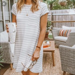 Lou & Grey Striped Signaturesoft Pocket Tee Dress